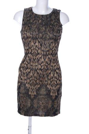 Guess Etuikleid schwarz-bronzefarben abstraktes Muster Business-Look