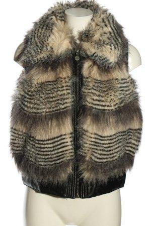 Guess Fellweste wollweiß-schwarz Streifenmuster Casual-Look