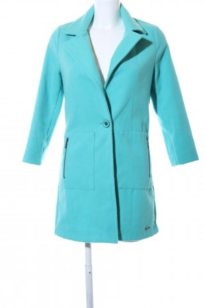Guess Cappotto in pile turchese stile casual