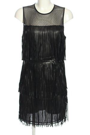 Guess Sukienka z frędzlami czarny Z połyskiem
