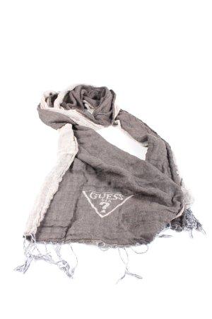 Guess Sjaal met franjes lichtgrijs-wit kleurverloop casual uitstraling