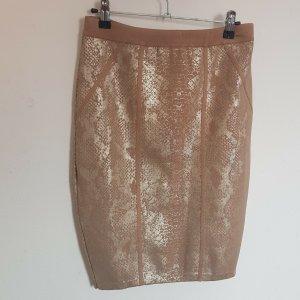 Guess Spódnica midi w kolorze różowego złota-złoto