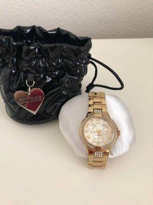Guess goldige Armbanduhr