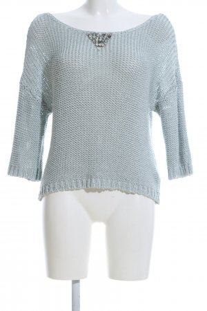 Guess Grobstrickpullover türkis Casual-Look