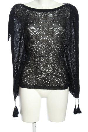 Guess Crochet Cardigan black casual look
