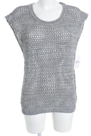 Guess Szydełkowany sweter szary-turkusowy Tkanina z mieszanych włókien