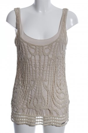 Guess Top a uncinetto bianco sporco stile casual