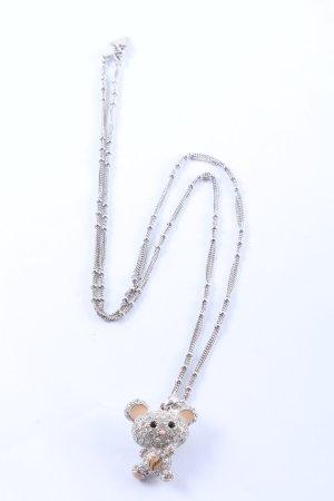 Guess Collar color plata elegante