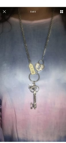 Guess Ketting zilver-wit