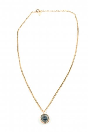 Guess Halskette goldfarben-blau Elegant