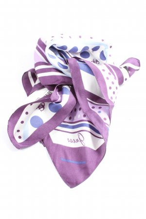 Guess Halsdoek lila-wit abstract patroon casual uitstraling