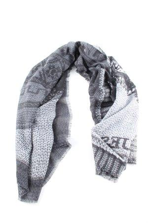 Guess Pañoleta gris claro estampado temático look casual