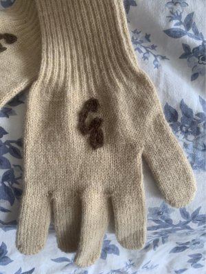 Guess Knitted Gloves beige-cream