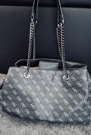 Guess Bolso negro-color plata