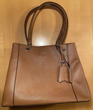 Guess Handbag cognac-coloured