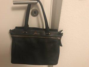Guess Handtasche schwarz Leder