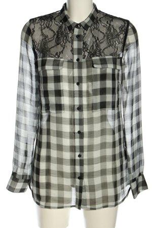Guess Hemd-Bluse schwarz-weiß Allover-Druck Business-Look