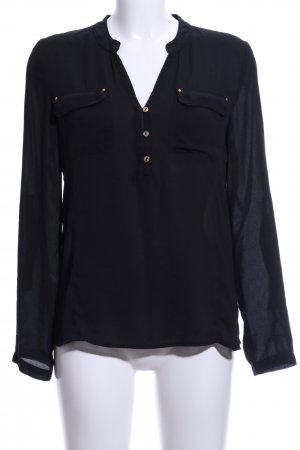 Guess Hemd-Bluse schwarz Casual-Look