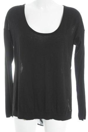 Guess Hemd-Bluse schwarz-silberfarben Casual-Look