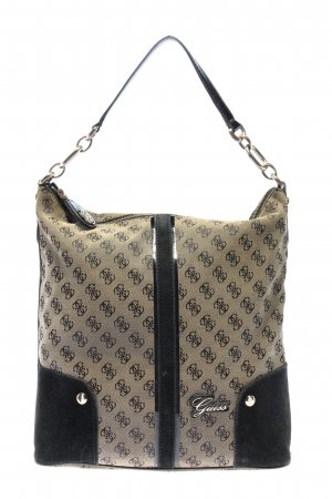 Guess Henkeltasche creme-braun Allover-Druck Casual-Look