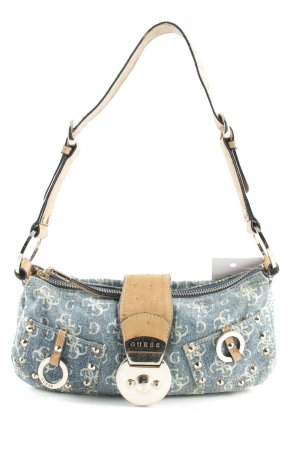 Guess Carry Bag blue-cream allover print casual look
