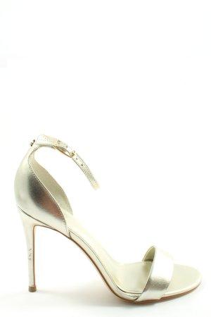 Guess Sandalias de tacón alto color plata elegante