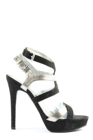 Guess High Heel Sandaletten schwarz-silberfarben Casual-Look