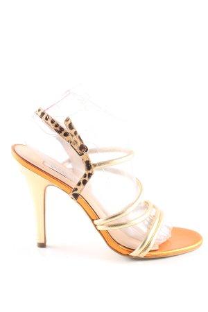 Guess High Heel Sandaletten wollweiß Animalmuster extravaganter Stil