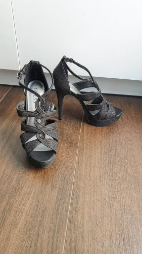 Guess High Heels black-silver-colored