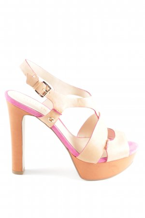 Guess High Heels creme-pink Casual-Look