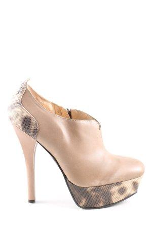 Guess High Heels cream animal pattern casual look