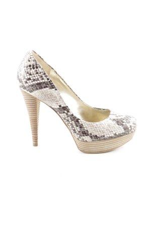 Guess High Heels natural white-black animal pattern extravagant style