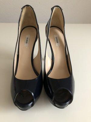 Guess High Heels dark blue leather