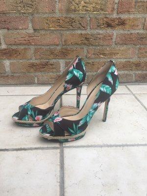 Guess Sandalo con tacco verde neon-bianco