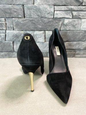GUESS High Heels schwarz-gold