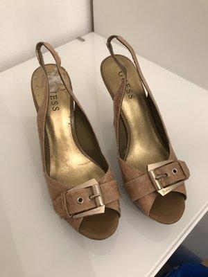 Guess Hoge hakken sandalen beige