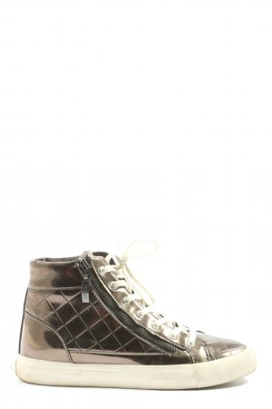 Guess High top sneaker goud prints met een thema casual uitstraling