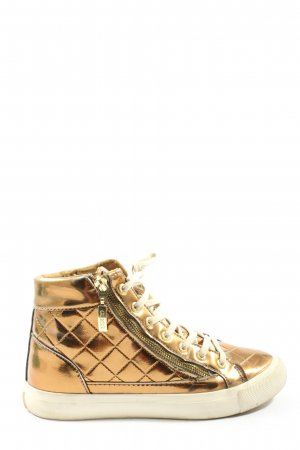 Guess High Top Sneaker goldfarben Steppmuster Casual-Look