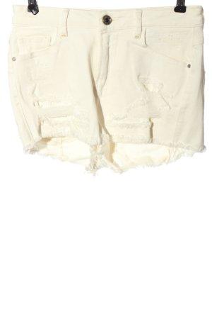 Guess High-Waist-Shorts wollweiß Casual-Look