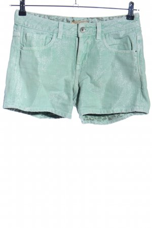 Guess High-Waist-Shorts türkis Casual-Look