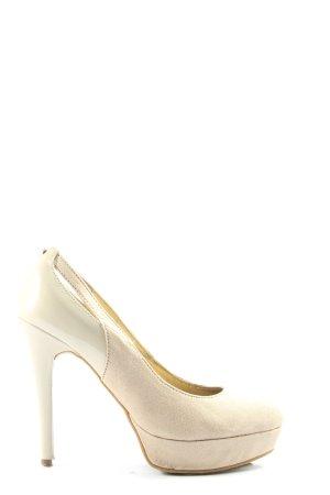 Guess Tacones de plataforma crema-blanco puro elegante
