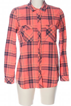 Guess Holzfällerhemd pink-blau Allover-Druck Casual-Look