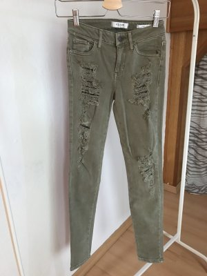 Guess Pantalone elasticizzato verde chiaro-verde-grigio