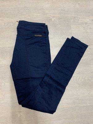 Guess Hose Jeans Stretch blau high slim Reißverschluss hinten jeggins Leggins
