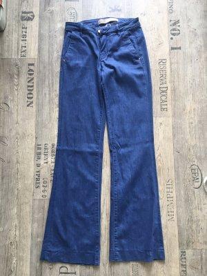Guess pantalón de cintura baja azul acero