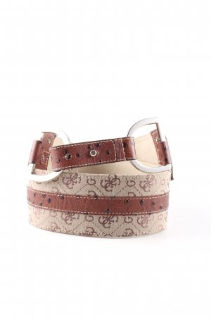 Guess Hip Belt brown-natural white graphic pattern business style