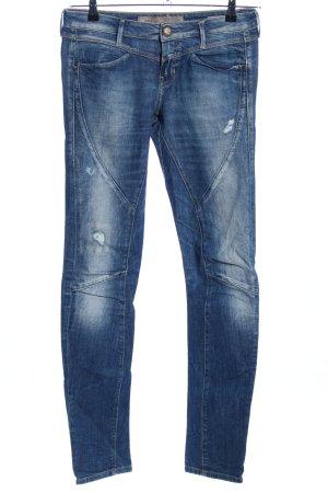 Guess Jeans vita bassa blu stile casual