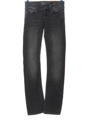 Guess Jeansy biodrówki jasnoszary Melanżowy W stylu casual