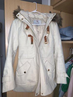 Guess Manteau à capuche blanc cassé-cognac