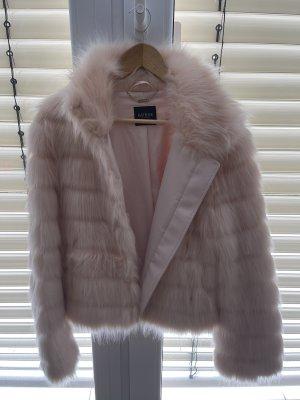 Guess Fake Fur Jacket dusky pink-pink